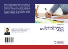 Buchcover von Banking Ombudsman Scheme in India : A Critical Analysis