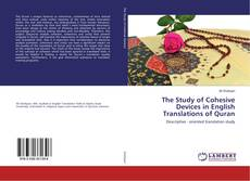 Buchcover von The Study of Cohesive Devices in English Translations of Quran