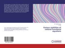 Borítókép a  Various stabilities of rational functional equations - hoz