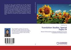 Copertina di Translation Studies: Special Topics III