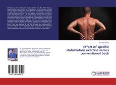 Borítókép a  Effect of specific stabilization exercise versus conventional back - hoz