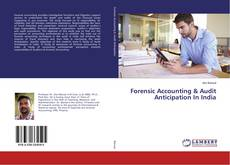 Buchcover von Forensic Accounting & Audit Anticipation In India
