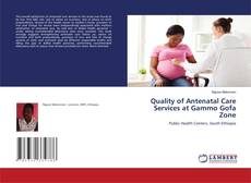 Bookcover of Quality of Antenatal Care Services at Gammo Gofa Zone