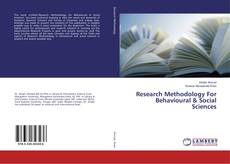Bookcover of Research Methodology For Behavioural & Social Sciences