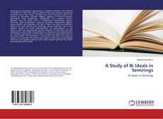 Capa do livro de A Study of Bi Ideals in Semirings