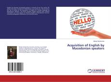 Bookcover of Acquisition of English by Macedonian speakers