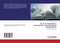 Capa do livro de Dr. B. R. Ambedkar's Contribution Towards Social Development