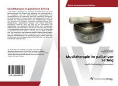 Buchcover von Musiktherapie im palliativen Setting