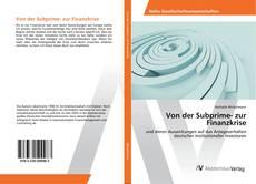 Portada del libro de Von der Subprime- zur Finanzkrise