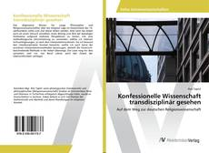 Capa do livro de Konfessionelle Wissenschaft transdisziplinär gesehen