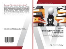 Capa do livro de Burnout-Prävention im Lehrerberuf