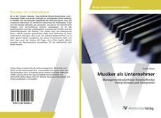 Bookcover of Musiker als Unternehmer