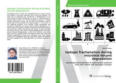 Обложка Isotopic fractionation during microbial decane degradation