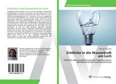 Buchcover von Einblicke in die Wasserkraft am Lech