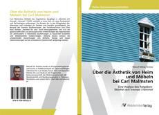 Buchcover von Über die Ästhetik von Heim und Möbeln bei Carl Malmsten