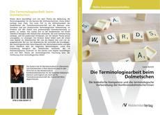 Bookcover of Die Terminologiearbeit beim Dolmetschen