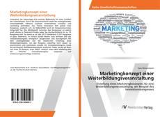 Buchcover von Marketingkonzept einer Weiterbildungsveranstaltung