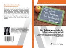 Portada del libro de Der Faktor Mensch in der Informationssicherheit
