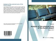 Bookcover of Analysis of the external costs of the Zurich airport
