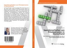 Capa do livro de Spendenverhalten von Privatpersonen in Deutschland