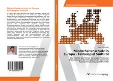 Buchcover von Minderheitenschutz in Europa - Fallbeispiel Südtirol