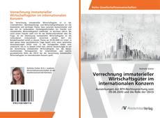 Capa do livro de Verrechnung immaterieller Wirtschaftsgüter im internationalen Konzern