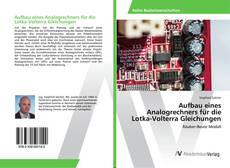 Bookcover of Aufbau eines Analogrechners für die Lotka-Volterra Gleichungen