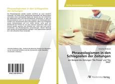 Bookcover of Phraseologismen in den Schlagzeilen der Zeitungen