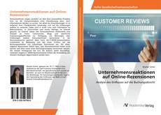 Capa do livro de Unternehmensreaktionen auf Online-Rezensionen