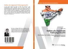 Capa do livro de Indien als regionale Führungsmacht
