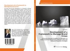 Copertina di Development of a Framework to Manage Brand Crises