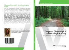 Capa do livro de 30 years Chernobyl: A radioecological study