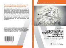 Portada del libro de Content Marketing: Empfehlungen für eine erfolgreiche Implementierung