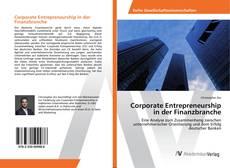 Bookcover of Corporate Entrepreneurship in der Finanzbranche