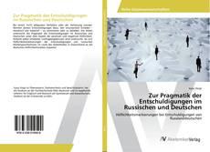 Zur Pragmatik der Entschuldigungen im Russischen und Deutschen kitap kapağı