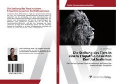 Bookcover of Die Stellung des Tiers in einem Empathie-basierten Kontraktualismus