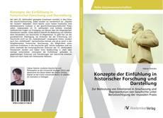 Buchcover von Konzepte der Einfühlung in historischer Forschung und Darstellung