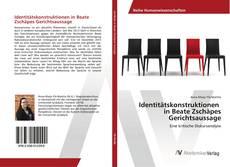 Capa do livro de Identitätskonstruktionen in Beate Zschäpes Gerichtsaussage