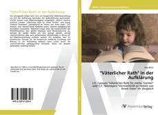 """Borítókép a  """"Väterlicher Rath"""" in der Aufklärung - hoz"""