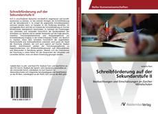 Bookcover of Schreibförderung auf der Sekundarstufe II