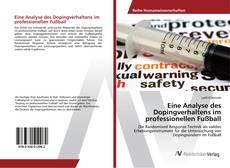 Eine Analyse des Dopingverhaltens im professionellen Fußball kitap kapağı