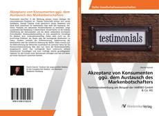 Bookcover of Akzeptanz von Konsumenten ggü. dem Austausch des Markenbotschafters