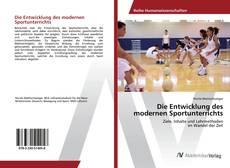 Capa do livro de Die Entwicklung des modernen Sportunterrichts