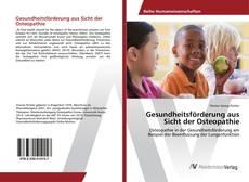 Capa do livro de Gesundheitsförderung aus Sicht der Osteopathie