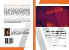 Talent Management as Boundary Work的封面