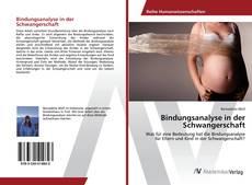 Capa do livro de Bindungsanalyse in der Schwangerschaft