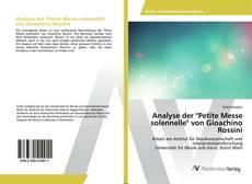 "Обложка Analyse der ""Petite Messe solennelle"" von Gioachino Rossini"