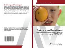 Capa do livro de Ernährung und Freizeitsport