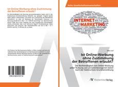 Portada del libro de Ist Online-Werbung ohne Zustimmung der Betroffenen erlaubt?