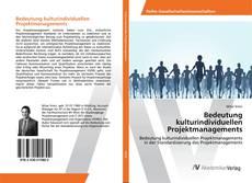 Portada del libro de Bedeutung kulturindividuellen Projektmanagements